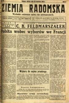Ziemia Radomska, 1932, R. 5, nr 95