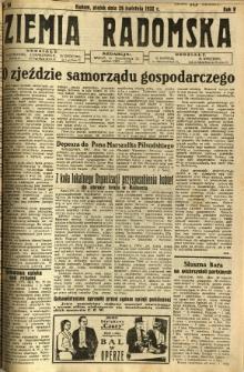 Ziemia Radomska, 1932, R. 5, nr 98