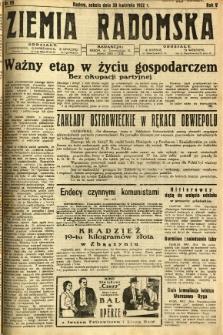 Ziemia Radomska, 1932, R. 5, nr 99