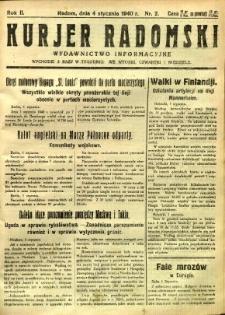 Kurier Radomski, 1940, R. 2, nr 2