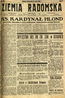 Ziemia Radomska, 1932, R. 5, nr 106
