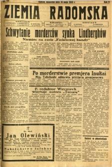 Ziemia Radomska, 1932, R. 5, nr 112