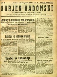 Kurier Radomski, 1940, R. 2, nr 3