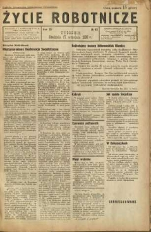 Życie Robotnicze, 1933, R. 11, nr 48