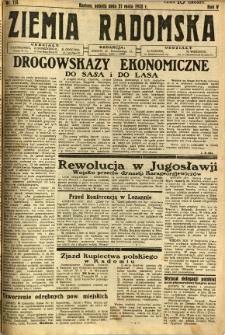 Ziemia Radomska, 1932, R. 5, nr 114