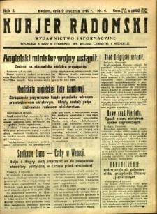 Kurier Radomski, 1940, R. 2, nr 4