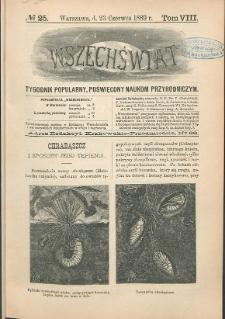 Wszechświat : Tygodnik popularny, poświęcony naukom przyrodniczym, 1889, T. 8, nr 25