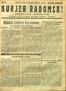 Kurier Radomski, 1940, R. 2, nr 6