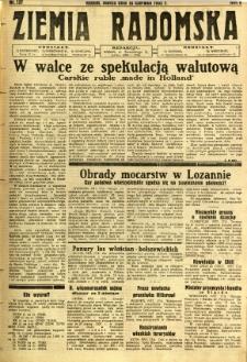 Ziemia Radomska, 1932, R. 5, nr 137