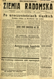 Ziemia Radomska, 1932, R. 5, nr 140
