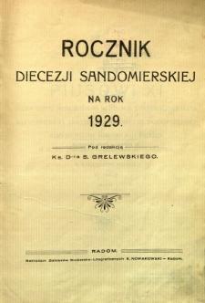 Rocznik diecezji sandomierskiej na rok 1929