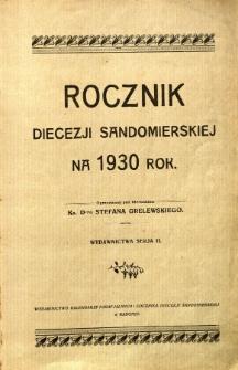 Rocznik diecezji sandomierskiej na rok 1930