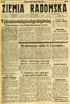 Ziemia Radomska, 1932, R. 5, nr 154
