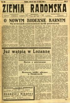 Ziemia Radomska, 1932, R. 5, nr 156
