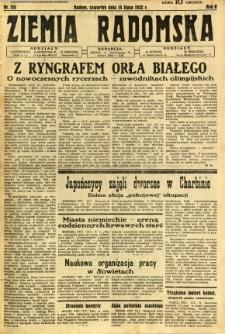 Ziemia Radomska, 1932, R. 5, nr 158