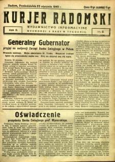 Kurier Radomski, 1940, R. 2, nr 9