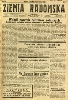 Ziemia Radomska, 1932, R. 5, nr 164