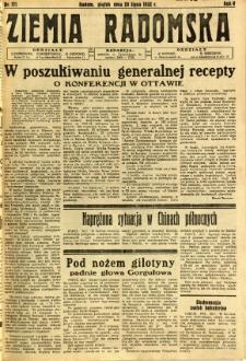 Ziemia Radomska, 1932, R. 5, nr 171