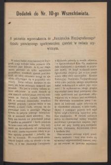 Wszechświat : Tygodnik popularny, poświęcony naukom przyrodniczym, 1886, T. 5, nr 10, dod