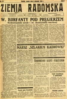 Ziemia Radomska, 1932, R. 5, nr 177