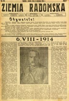 Ziemia Radomska, 1932, R. 5, nr 178