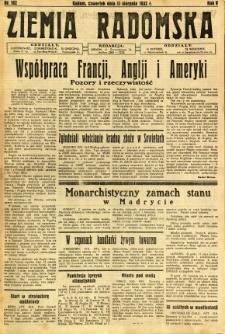 Ziemia Radomska, 1932, R. 5, nr 182