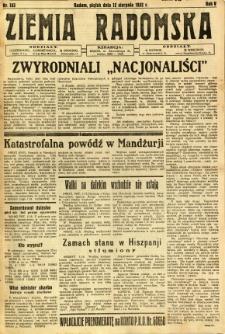 Ziemia Radomska, 1932, R. 5, nr 183
