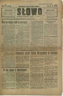 Słowo, 1930. R. 9, nr 153
