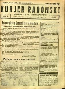 Kurier Radomski, 1940, R. 2, nr 12