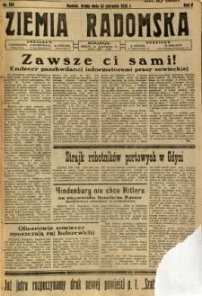 Ziemia Radomska, 1932, R. 5, nr 198