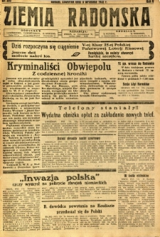 Ziemia Radomska, 1932, R. 5, nr 205