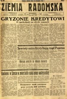 Ziemia Radomska, 1932, R. 5, nr 207