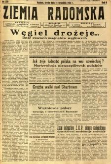 Ziemia Radomska, 1932, R. 5, nr 210