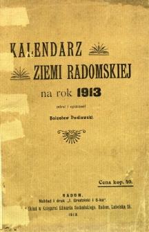 Kalendarz ziemi radomskiej na rok 1913