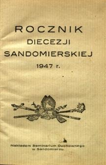 Rocznik Diecezji sandomierskiej 1947
