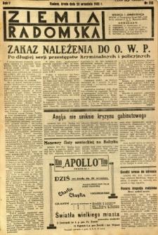 Ziemia Radomska, 1932, R. 5, nr 222