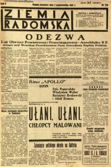 Ziemia Radomska, 1932, R. 5, nr 226