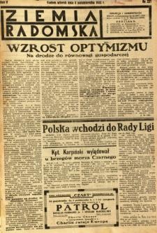 Ziemia Radomska, 1932, R. 5, nr 227