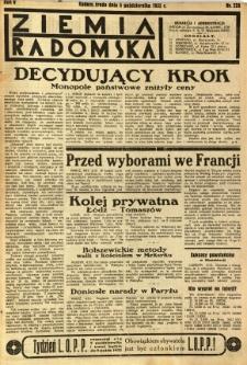 Ziemia Radomska, 1932, R. 5, nr 228