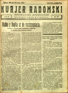 Kurier Radomski, 1940, R. 2, nr 21
