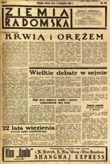 Ziemia Radomska, 1932, R. 5, nr 253