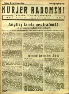 Kurier Radomski, 1940, R. 2, nr 22