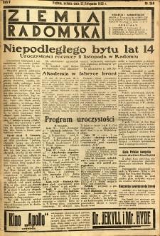 Ziemia Radomska, 1932, R. 5, nr 260