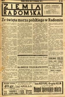 Ziemia Radomska, 1932, R. 5, nr 262
