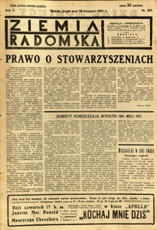 Ziemia Radomska, 1932, R. 5, nr 265