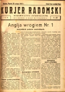 Kurier Radomski, 1940, R. 2, nr 23