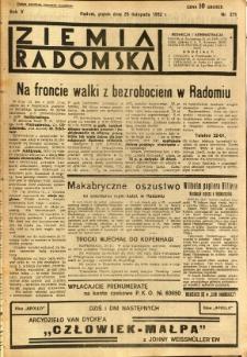 Ziemia Radomska, 1932, R. 5, nr 271