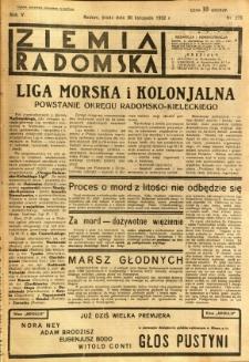 Ziemia Radomska, 1932, R. 5, nr 275