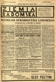Ziemia Radomska, 1932, R. 5, nr 277