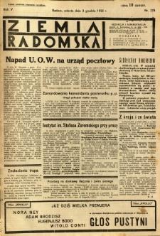 Ziemia Radomska, 1932, R. 5, nr 278